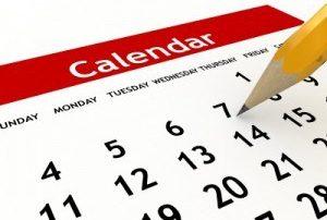 calendar cropped close with pencil
