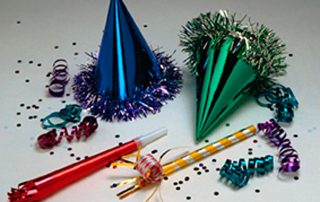 party hats and other celebratory things