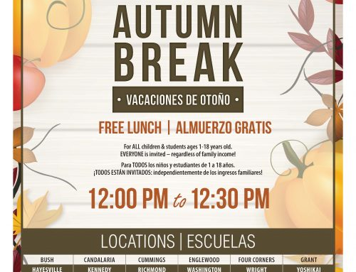 Free Lunch Over Autumn Break | Almuerzo gratis durante las vacaciones de otoño