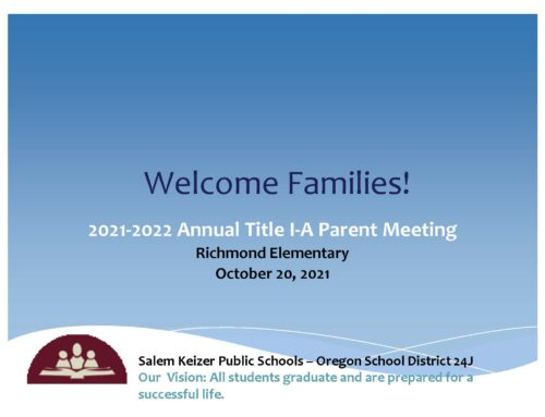 Annual Title 1 Information Meeting